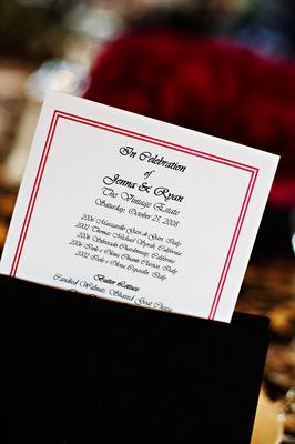 Stationery, Real Weddings, Wedding Style, Menu Cards, West Coast Real Weddings, Glam Real Weddings, Glam Weddings