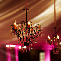 Flowers & Decor, Real Weddings, Wedding Style, Lighting, West Coast Real Weddings, Glam Real Weddings, Glam Weddings, Glam Wedding Flowers & Decor, Chandelier, Chandeliers