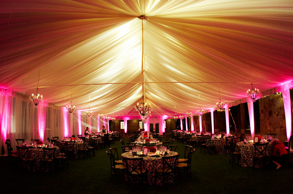 Flowers & Decor, Real Weddings, Wedding Style, pink, Lighting, Tables & Seating, West Coast Real Weddings, Glam Real Weddings, Glam Weddings