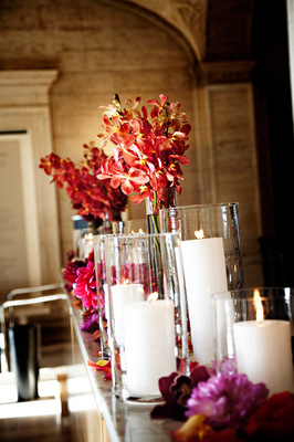 Flowers & Decor, Real Weddings, Wedding Style, Candles, Fall Weddings, Modern Real Weddings, City Real Weddings, Fall Real Weddings, City Weddings, Modern Weddings, Modern Wedding Flowers & Decor