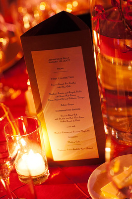 Stationery, Real Weddings, Wedding Style, red, Candles, Menu Cards, Fall Weddings, Modern Real Weddings, City Real Weddings, Fall Real Weddings, City Weddings, Modern Weddings