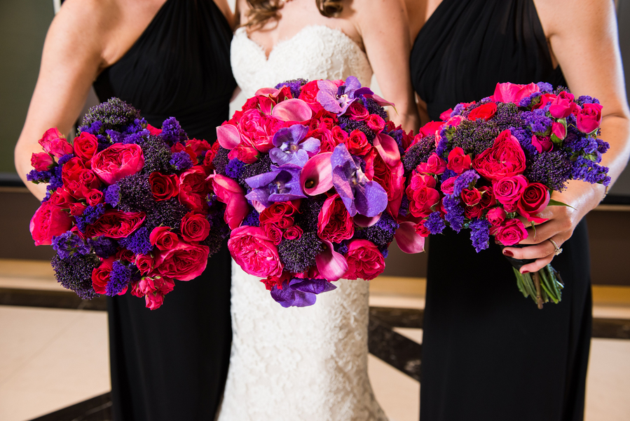 Real Weddings, pink, purple, Bridesmaid Bouquets, Fall Weddings, Modern Real Weddings, Fall Real Weddings, modern wedings