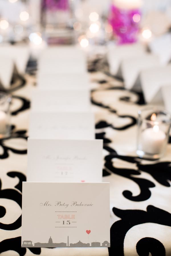 Stationery, Real Weddings, black, Escort Cards, Fall Weddings, Modern Real Weddings, Fall Real Weddings, Modern Wedding Flowers & Decor, modern wedings