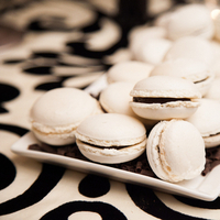 Cakes, Real Weddings, Wedding Style, white, black, Other Wedding Desserts, Fall Weddings, Modern Real Weddings, Fall Real Weddings, Cookies, Food & Drink, modern wedings