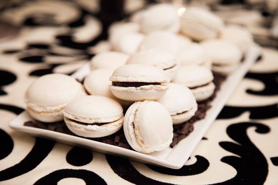 Cakes, Real Weddings, Wedding Style, white, black, Other Wedding Desserts, Fall Weddings, Modern Real Weddings, Fall Real Weddings, Cookies, Food & Drink, modern wedings