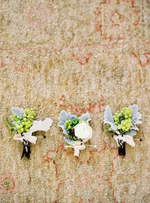 Boutonnieres, West Coast Real Weddings, Pastel