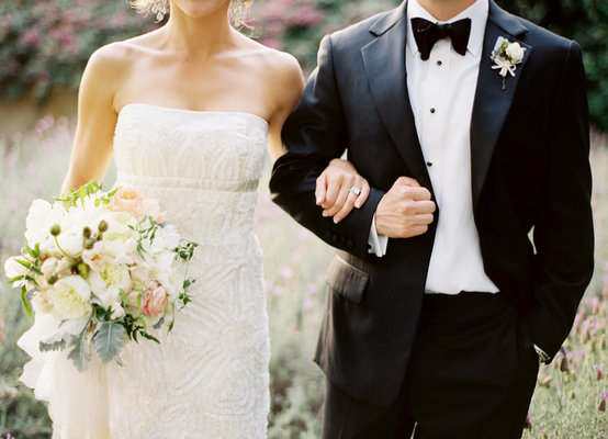 white, black, West Coast Real Weddings, Classic Weddings
