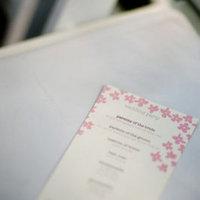 Stationery, Real Weddings, Wedding Style, pink, Ceremony Programs, Spring Weddings, West Coast Real Weddings, Garden Real Weddings, Spring Real Weddings, Garden Weddings