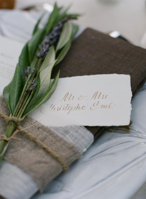 Flowers & Decor, Stationery, Destinations, Real Weddings, Wedding Style, ivory, brown, Destination Weddings, Europe, Place Cards, Summer Weddings, Classic Real Weddings, Garden Real Weddings, Summer Real Weddings, Classic Weddings, Garden Weddings, Rustic Wedding Flowers & Decor