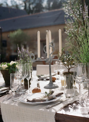 Flowers & Decor, Destinations, Real Weddings, Wedding Style, ivory, Destination Weddings, Europe, Centerpieces, Candles, Summer Weddings, Classic Real Weddings, Garden Real Weddings, Summer Real Weddings, Classic Weddings, Garden Weddings, Garden Wedding Flowers & Decor, Table settings