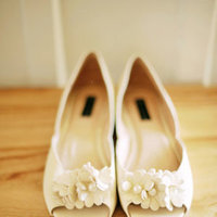 Shoes, Real Weddings, ivory, Vintage, Eco-Friendly, Romantic, Simple, Fresh, Light, Airy
