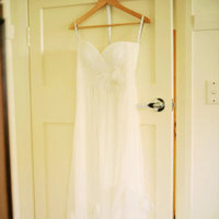 Real Weddings, ivory, dress, Eco-Friendly, Romantic, Simple, Chiffon, Fresh, Light, Airy