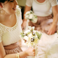 Bridesmaids, Real Weddings, pink, Vintage, Eco-Friendly, Romantic, Simple, Fresh, Light, Airy, dusty rose