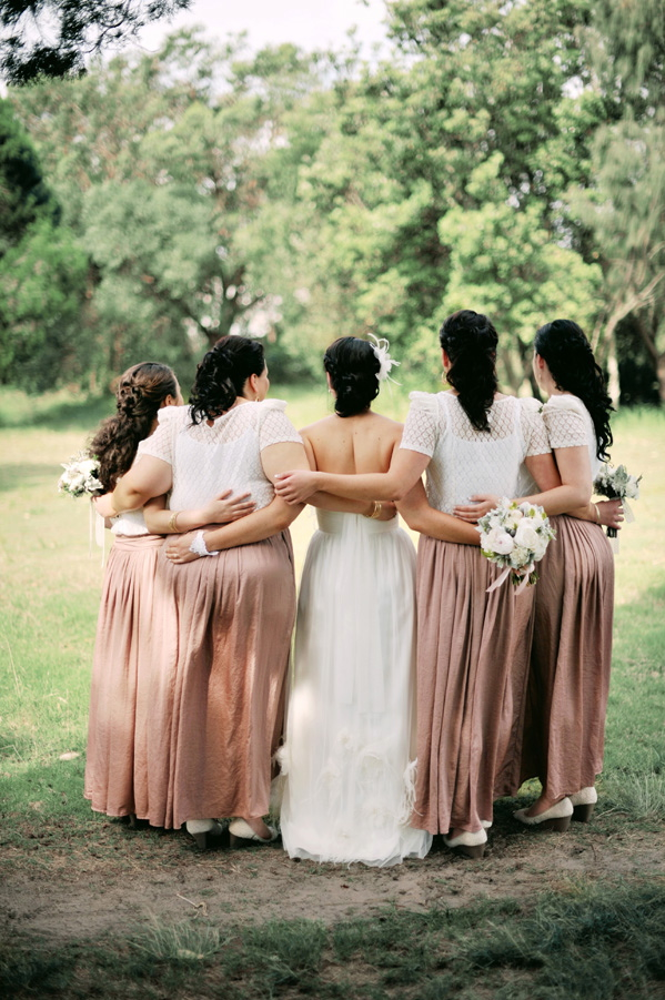 Bridesmaids, Real Weddings, pink, Vintage, Eco-Friendly, Romantic, Bridal party, Simple, Fresh, Light, Airy, dusty rose