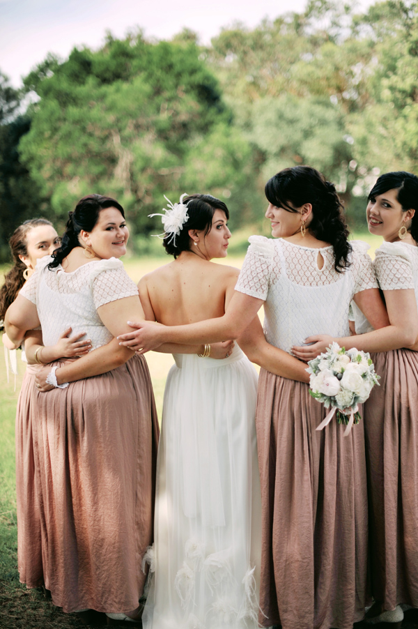 Bridesmaids, Real Weddings, pink, Eco-Friendly, Romantic, Bridal party, Simple, Fresh, Light, Airy, dusty rose