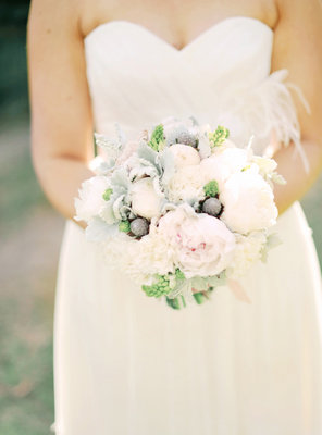 Flowers & Decor, Real Weddings, Wedding Style, pink, Bride Bouquets, Bridesmaid Bouquets, Eco-Friendly, Eco-Friendly Real Weddings, Eco-Friendly Weddings, Romantic, Grey, bridal bouquet, Bridesmaids bouquet, Bridesmaid bouquet, Romantic Weddings