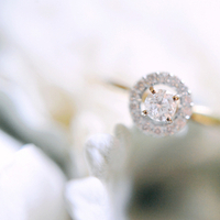 Jewelry, Real Weddings, Eco-Friendly, Romantic, Simple, Diamond, Engagement ring, Fresh, Light, Airy, round cut