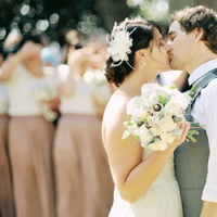 Real Weddings, pink, Vintage, Eco-Friendly, Romantic, Kiss, Simple, Fresh, Light, Airy, dusty rose, wedding pary