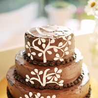 Cakes, Real Weddings, Wedding Style, Rustic, Eco-Friendly, Eco-Friendly Real Weddings, Eco-Friendly Weddings, Romantic, Chocolate, Tree, Simple, Fresh, Light, Airy, Romantic Real Weddings, Romantic Weddings
