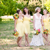 Bridesmaids Dresses, Fashion, Real Weddings, Wedding Style, Outdoor, Spring Weddings, Summer Weddings, West Coast Real Weddings, Spring Real Weddings, Summer Real Weddings, Bridal party, Casual, Orchard, Farm wedding, West Coast Weddings, Organic Real Weddings, Organic weddings, Farm Real Weddings, yellow bridesmaid dresses