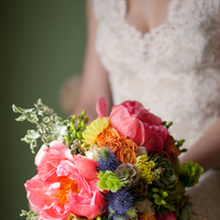 Flowers & Decor, Real Weddings, Outdoor, Spring Weddings, Summer Weddings, West Coast Real Weddings, Spring Real Weddings, Summer Real Weddings, Casual, Farm wedding, West Coast Weddings, Bridal Bouquets, Organic Real Weddings, Organic weddings, Farm Real Weddings, pink peony bouquet