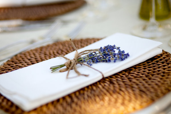 Flowers & Decor, Real Weddings, Wedding Style, Outdoor, Spring Weddings, Summer Weddings, West Coast Real Weddings, Spring Real Weddings, Summer Real Weddings, Lavender, Casual, Place setting, Farm wedding, West Coast Weddings, Organic Real Weddings, Organic weddings, Farm Real Weddings