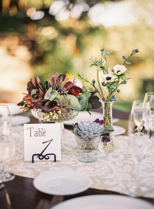 Flowers & Decor, Real Weddings, Wedding Style, Table Numbers, Rustic Real Weddings, West Coast Real Weddings, Summer Real Weddings, Vineyard Real Weddings, Rustic Weddings, Vineyard Weddings, Rustic Wedding Flowers & Decor