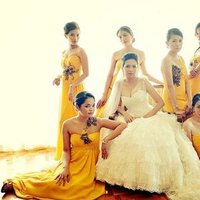 Bridesmaids Dresses, Destinations, Fashion, Real Weddings, Wedding Style, yellow, Asia, Cultural, Glam Real Weddings, Glam Weddings, cultural weddings, cultural real wedding