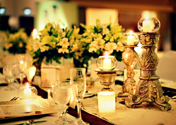 Flowers & Decor, Destinations, Real Weddings, Wedding Style, yellow, Asia, Cultural, Lighting, Candles, Glam Wedding Flowers & Decor, cultural weddings, cultural real wedding