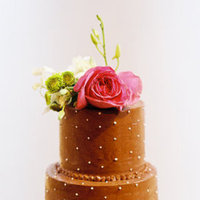 Cakes, Real Weddings, brown, Floral Wedding Cakes, Round Wedding Cakes, Wedding Cakes, Cake Toppers, Fall Real Weddings
