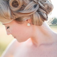 Beauty, Jewelry, Real Weddings, Wedding Style, Earrings, Updo, Southern Real Weddings, Summer Weddings, Classic Real Weddings, Summer Real Weddings, Vineyard Real Weddings, Classic Weddings, Vineyard Weddings, Pearls