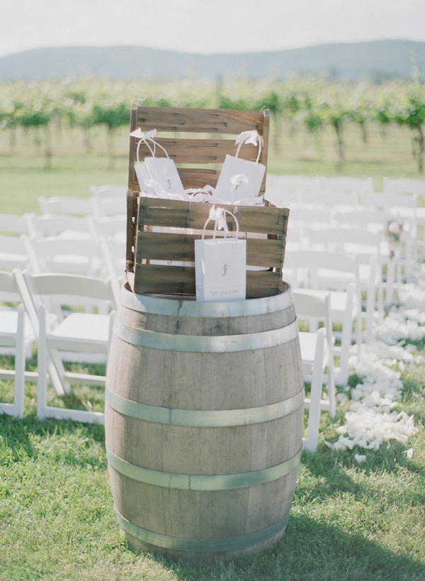Ceremony, Flowers & Decor, Favors & Gifts, Real Weddings, Wedding Style, Southern Real Weddings, Summer Weddings, Classic Real Weddings, Summer Real Weddings, Vineyard Real Weddings, Classic Weddings, Vineyard Weddings, Summer Wedding Flowers & Decor, Vineyard Wedding Flowers & Decor, barrels