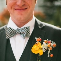 Flowers & Decor, Real Weddings, Wedding Style, gold, Boutonnieres, Fall Weddings, Rustic Real Weddings, Fall Real Weddings, Rustic Weddings, Boutonniere, Boutonnière, Lds wedding, Bow-tie, LDS Real WEdding, Autumn Real Wedding, Autumn Weddings, DIY Real Weddings, DIY Weddings