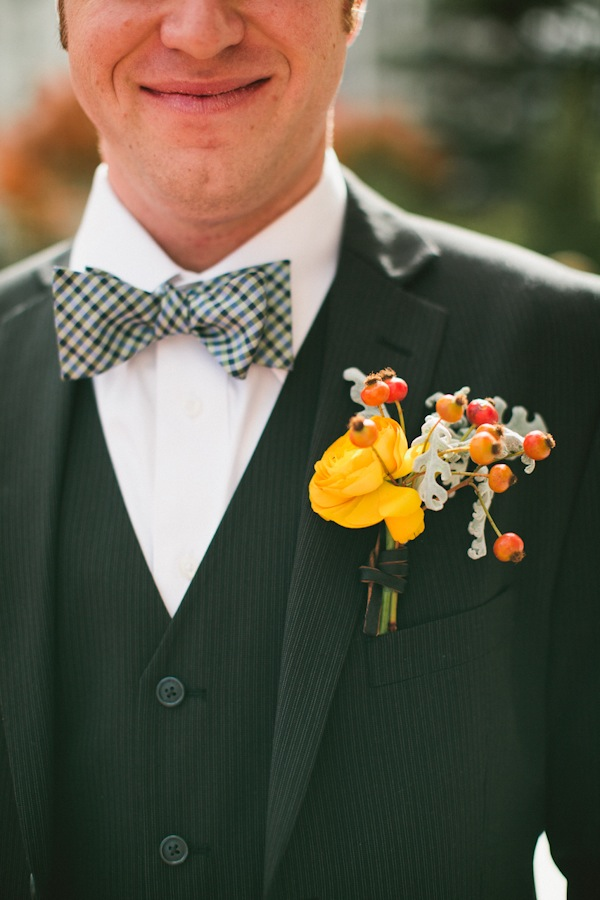 Flowers & Decor, Real Weddings, Wedding Style, gold, Boutonnieres, Fall Weddings, Rustic Real Weddings, Fall Real Weddings, Rustic Weddings, Boutonniere, Boutonnière, Lds wedding, Bow-tie, LDS Real WEdding, Autumn Real Wedding, Autumn Weddings, DIY Real Weddings, DIY Weddings