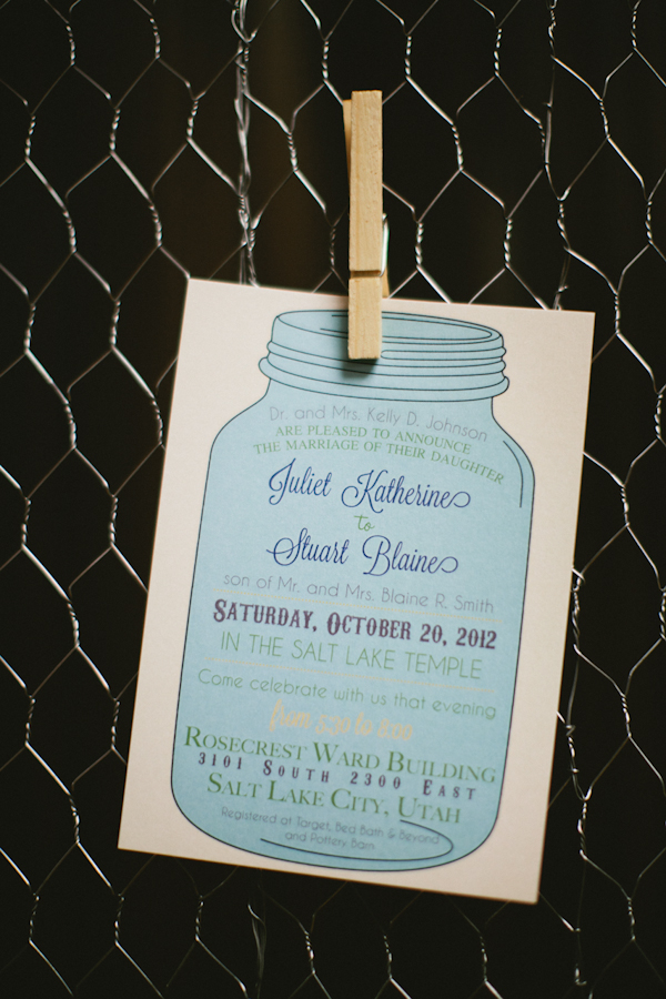 Stationery, Real Weddings, blue, invitation, Fall Weddings, Rustic Real Weddings, Fall Real Weddings, Rustic Weddings, Lds wedding, Mason jars, LDS Real WEdding, Autumn Real Wedding, Autumn Weddings, DIY Real Weddings, DIY Weddings