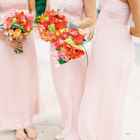 Flowers & Decor, Bridesmaids Dresses, Real Weddings, orange, pink, Classic, Southern Real Weddings, Elegant, Florida, Fuchsia, Southern weddings, bright pink, florida real weddings, florida weddings