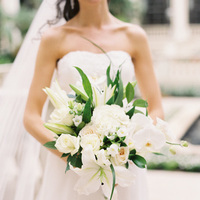 Flowers & Decor, Real Weddings, Wedding Style, white, Bride Bouquets, Classic, Southern Real Weddings, Classic Weddings, Classic Wedding Flowers & Decor, Roses, Elegant, Florida, Lillies, Southern weddings, Bridal Bouquets, florida real weddings, florida weddings