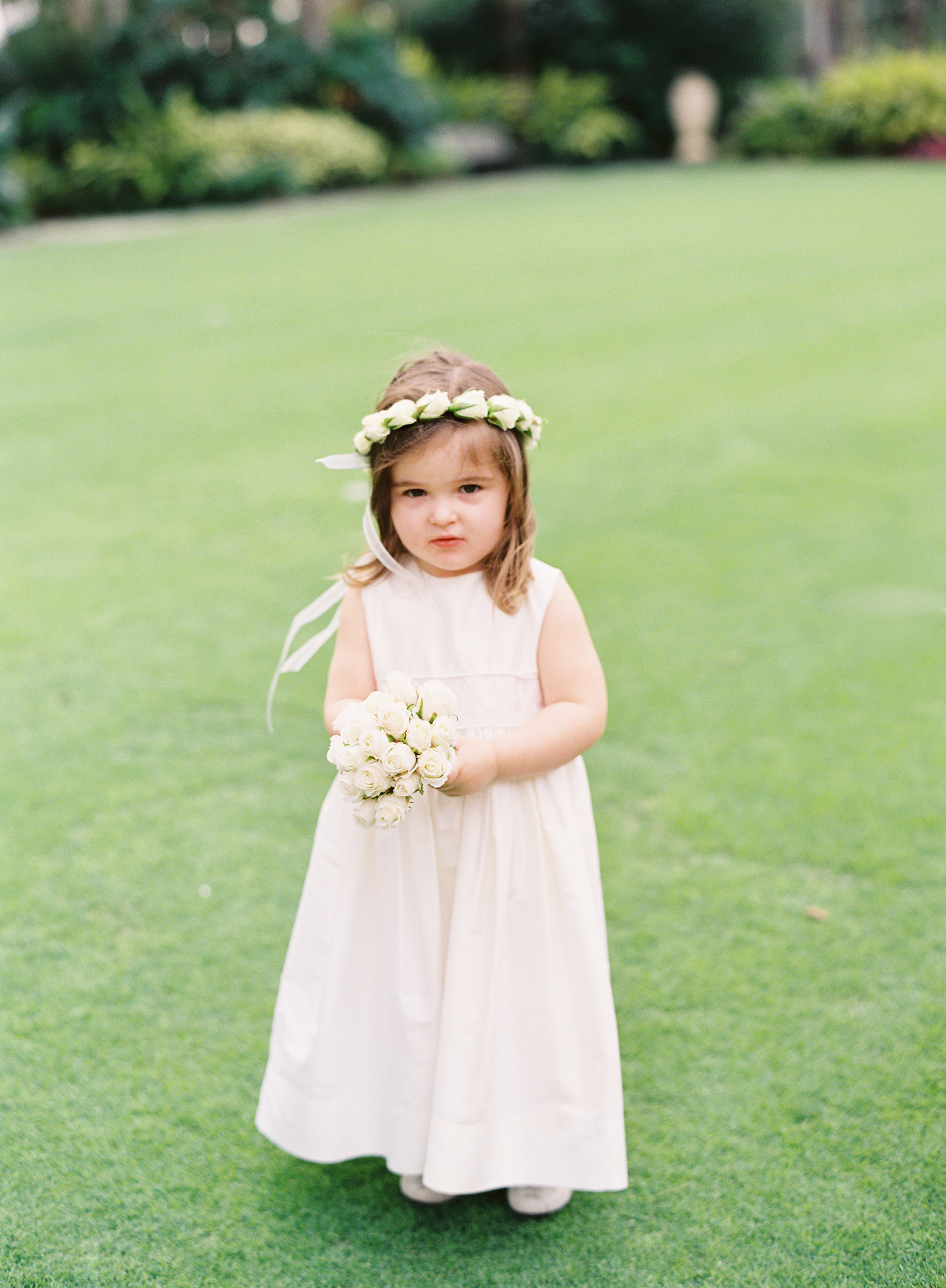 Real Weddings, Classic, Flower girl, Elegant, Florida, hair wreath