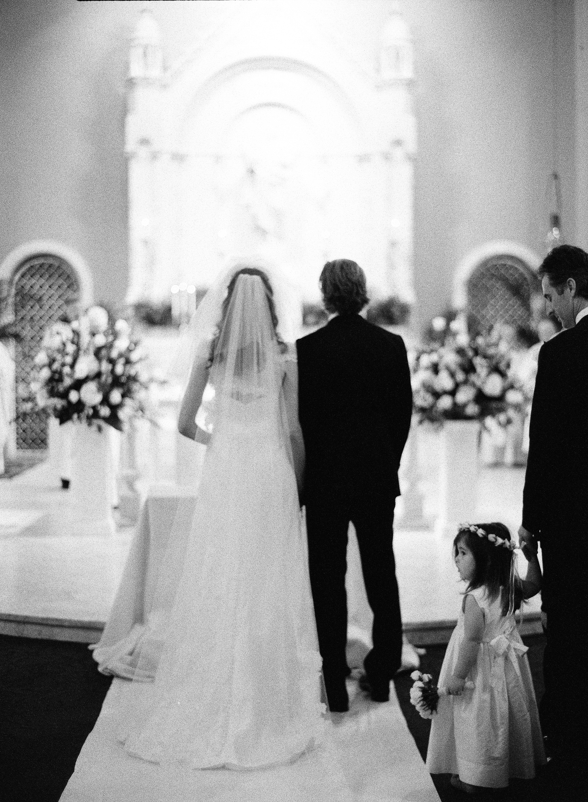 Ceremony, Real Weddings, Classic, Black and white, Elegant, Florida