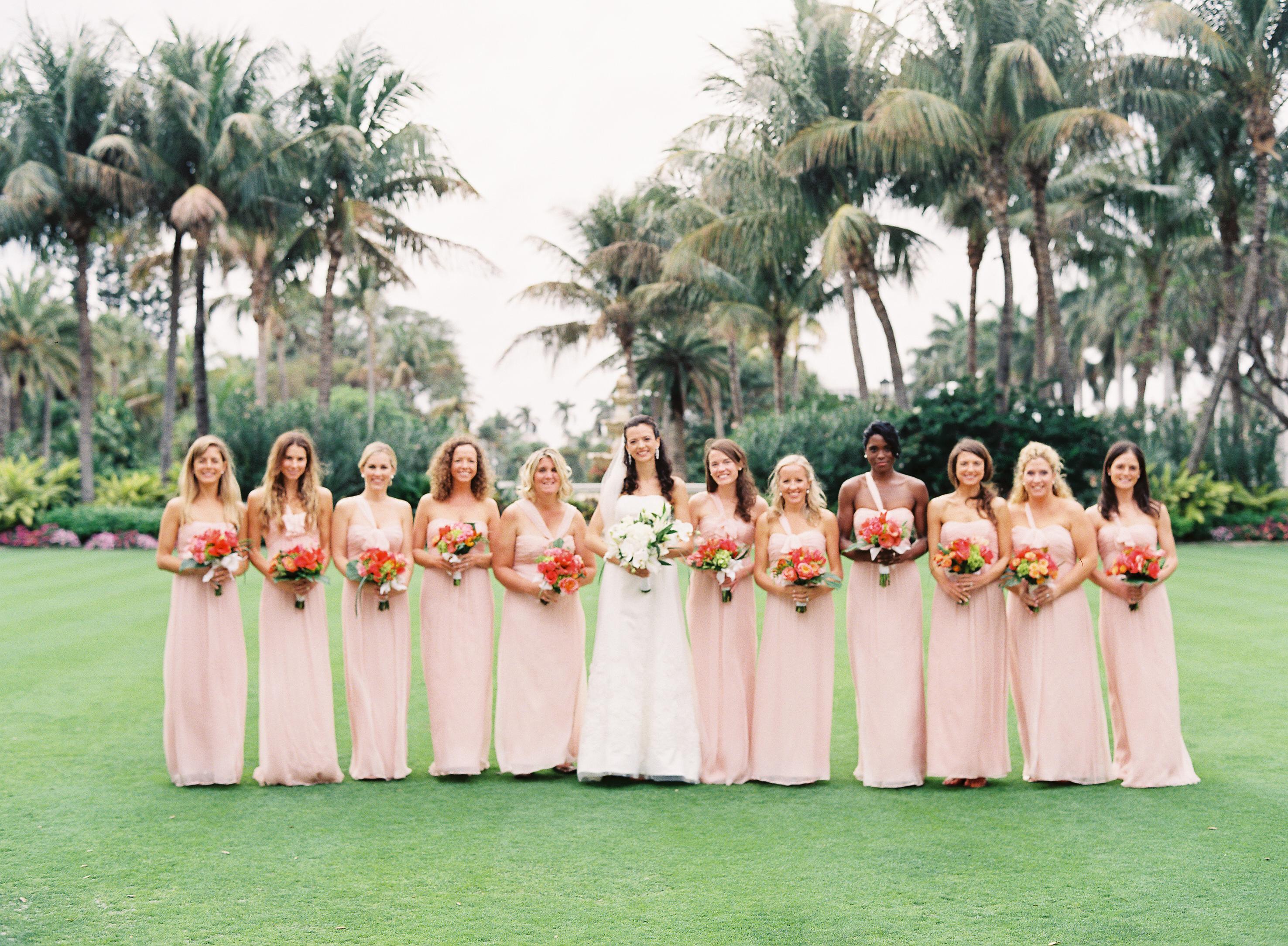 Bridesmaids, Real Weddings, pink, Classic, Southern Real Weddings, Bridal party, Elegant, Florida, Southern weddings, florida real weddings, florida weddings