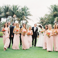 Real Weddings, pink, Classic, Wedding party, Elegant, Florida