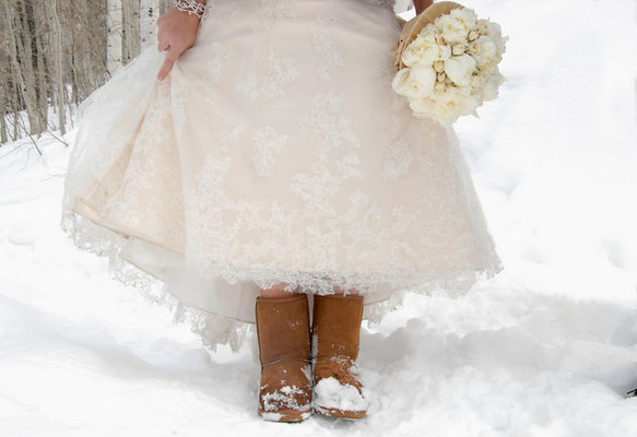 Shoes, Fashion, Real Weddings, Wedding Style, Winter Weddings, Midwest Real Weddings, Winter Real Weddings, Snow, wedding shoes, uggs