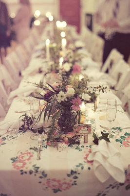 Flowers & Decor, Real Weddings, Centerpieces, Tables & Seating, West Coast Real Weddings, Vintage Real Weddings, Vintage Weddings