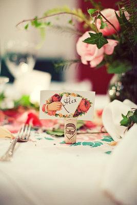 Stationery, Real Weddings, pink, Escort Cards, West Coast Real Weddings, Vintage Real Weddings, Vintage Weddings