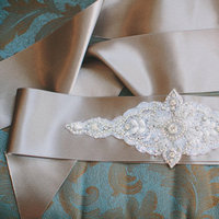 Fashion, Real Weddings, Wedding Style, ivory, Accessories, Fall Weddings, Fall Real Weddings, Midwest Real Weddings, Shabby Chic Real Weddings, Shabby Chic Weddings, Belts, wedding sashes