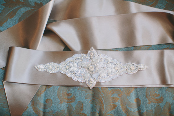 Wedding Style, Real Weddings, Midwest Real Weddings, Fall Weddings, Fall Real Weddings, Fashion, wedding sashes, ivory, Shabby Chic Weddings, Shabby Chic Real Weddings, Accessories, Belts
