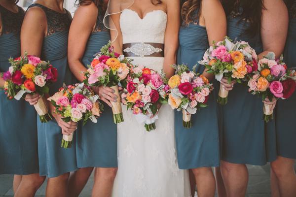 Flowers & Decor, Real Weddings, Wedding Style, Bridesmaid Bouquets, Fall Weddings, Fall Real Weddings, Midwest Real Weddings, Shabby Chic Real Weddings, Shabby Chic Weddings, Fall Wedding Flowers & Decor, Summer Wedding Flowers & Decor