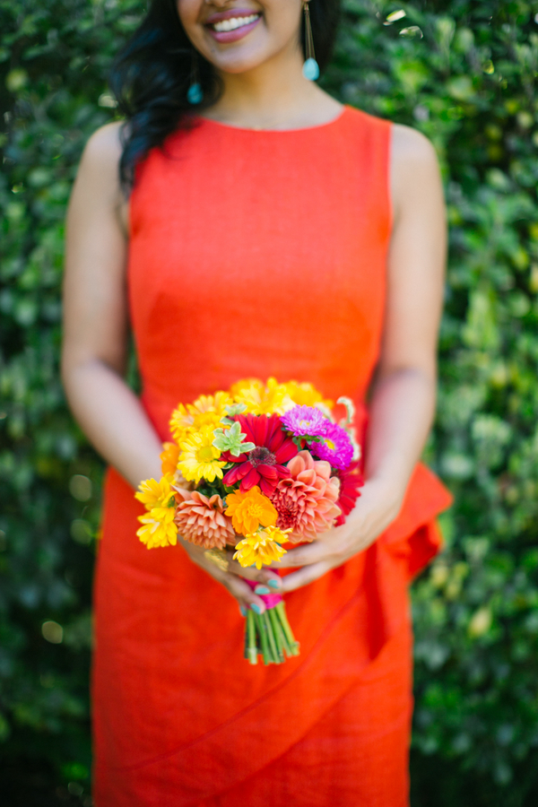 Real Weddings, Wedding Style, orange, Bridesmaid Bouquets, Modern Real Weddings, Summer Weddings, Summer Real Weddings, Modern Weddings, West Coast Weddings
