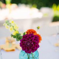 Flowers & Decor, Real Weddings, Wedding Style, purple, blue, Centerpieces, Modern Real Weddings, Summer Weddings, Summer Real Weddings, Modern Weddings, Modern Wedding Flowers & Decor, Summer Wedding Flowers & Decor, West Coast Weddings