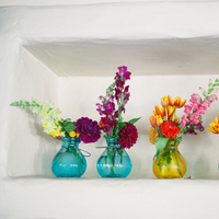 Flowers & Decor, Real Weddings, Wedding Style, blue, Centerpieces, Modern Real Weddings, Summer Weddings, Summer Real Weddings, Modern Weddings, Modern Wedding Flowers & Decor, Summer Wedding Flowers & Decor, West Coast Weddings